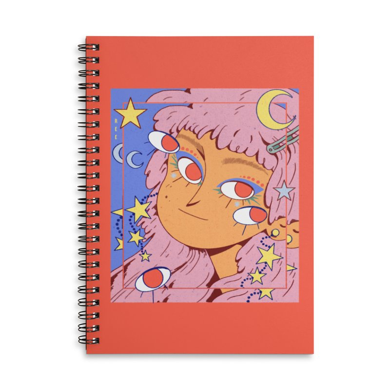 Starry Accessories Notebook by Ree Artwork