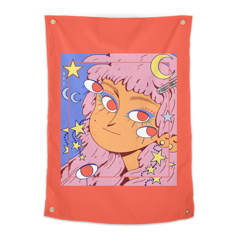 Starry Home Tapestry by Ree Artwork
