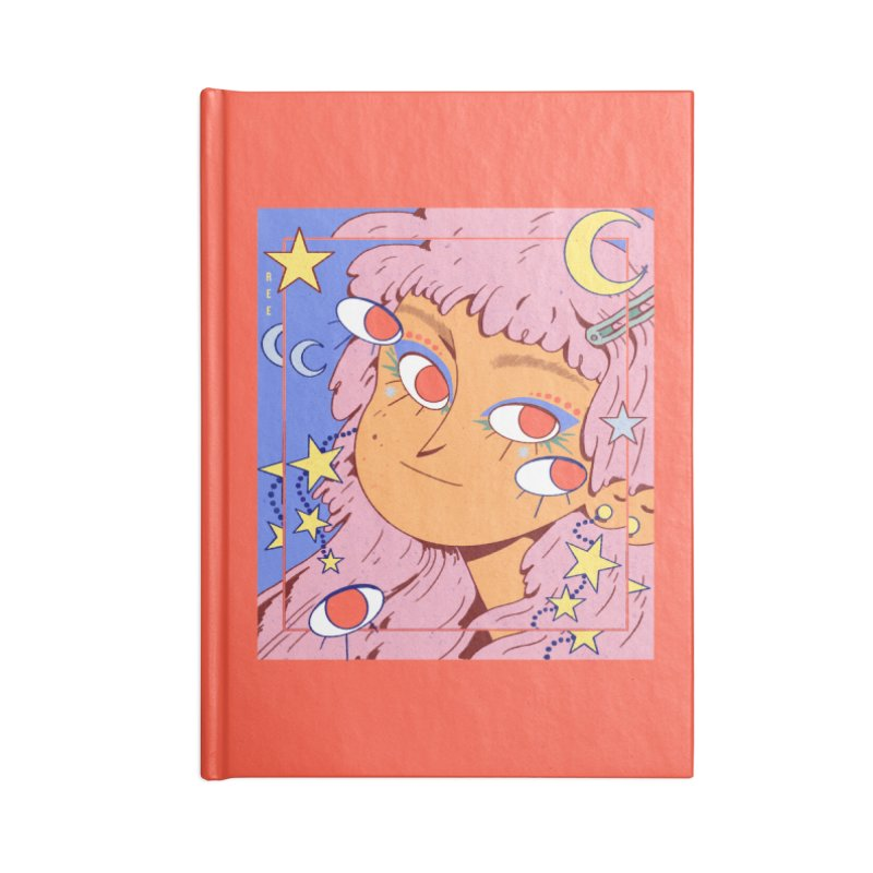 Starry Accessories Blank Journal Notebook by Ree Artwork