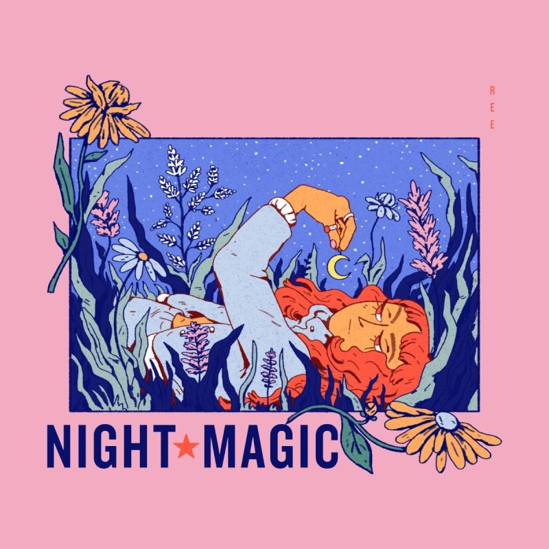 Night Magic Accessories Bag by Ree Artwork