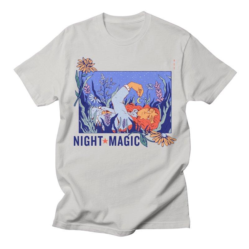 Night Magic in Women's Regular Unisex T-Shirt Stone by Ree Artwork
