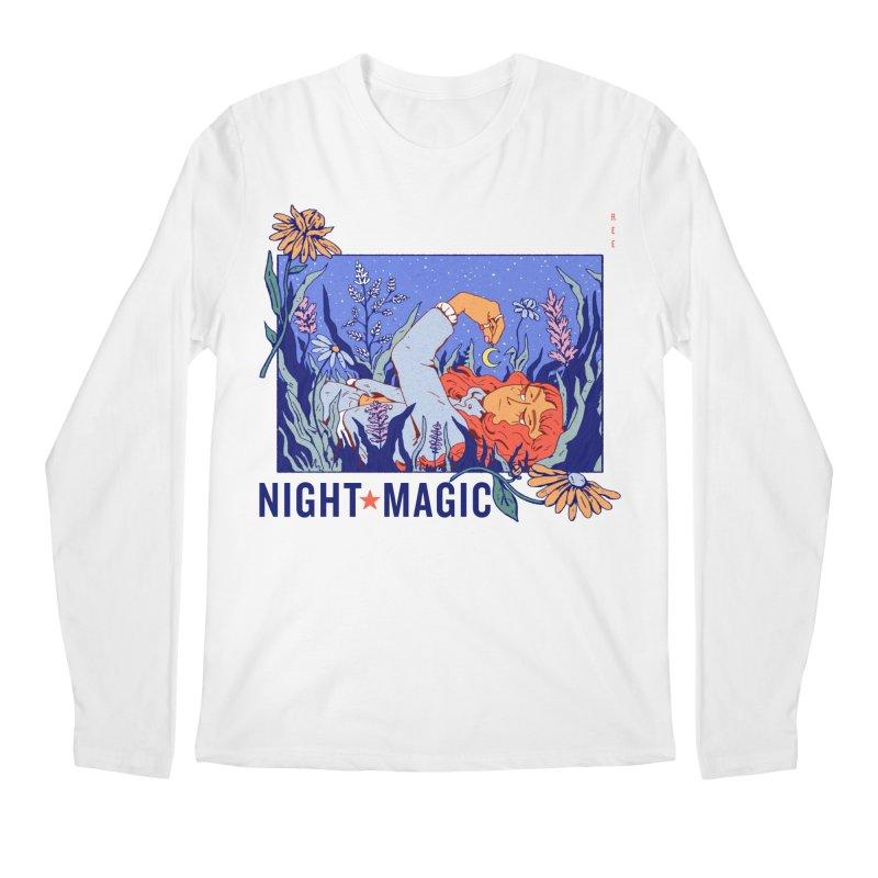 Night Magic Men's Longsleeve T-Shirt by Ree Artwork