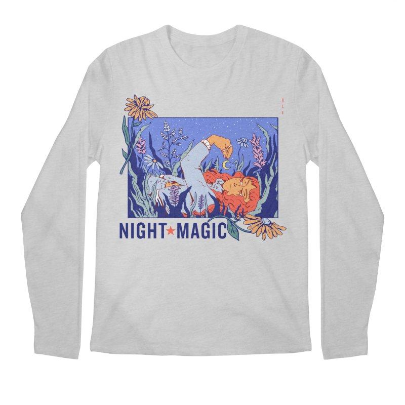 Night Magic Men's Regular Longsleeve T-Shirt by Ree Artwork