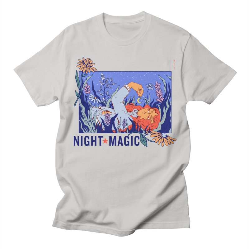 Night Magic Men's Regular T-Shirt by Ree Artwork
