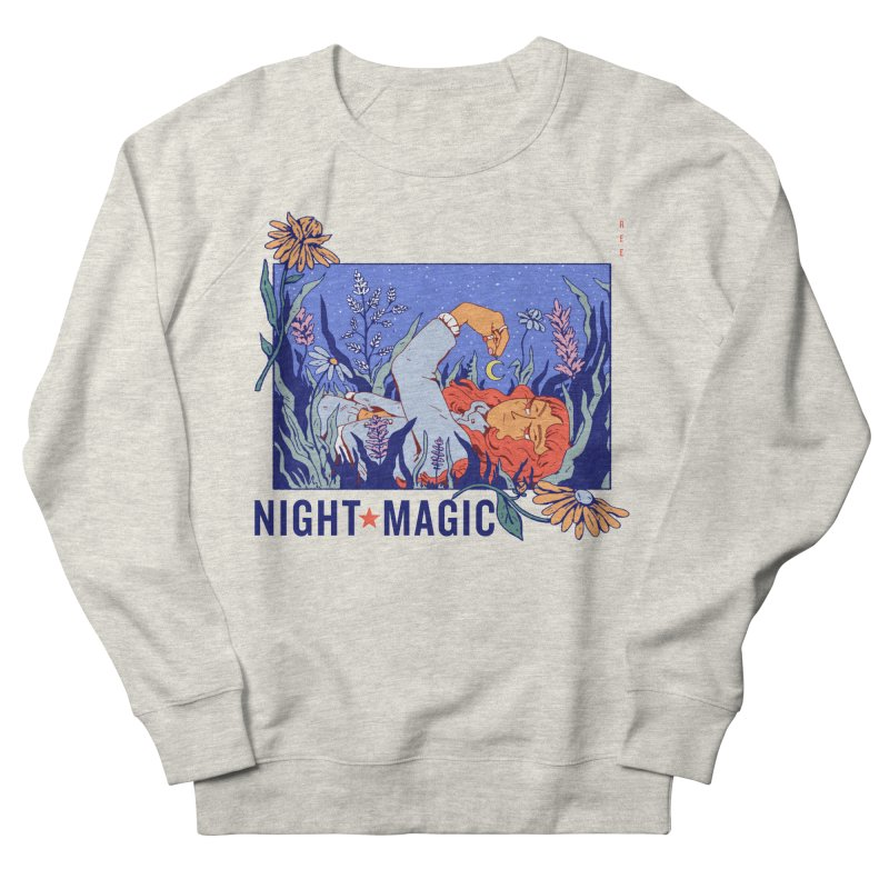 Night Magic Men's French Terry Sweatshirt by Ree Artwork