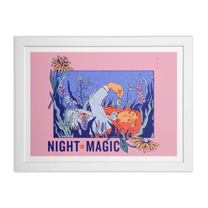 Night Magic Home Framed Fine Art Print by Ree Artwork