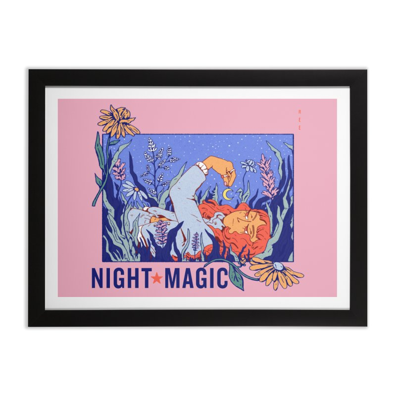 Night Magic Home Framed Fine Art Print by Ree Artwork