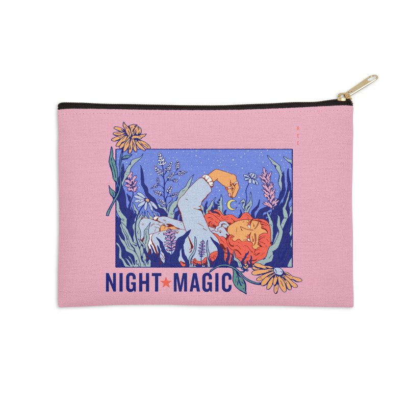 Night Magic Accessories Zip Pouch by Ree Artwork