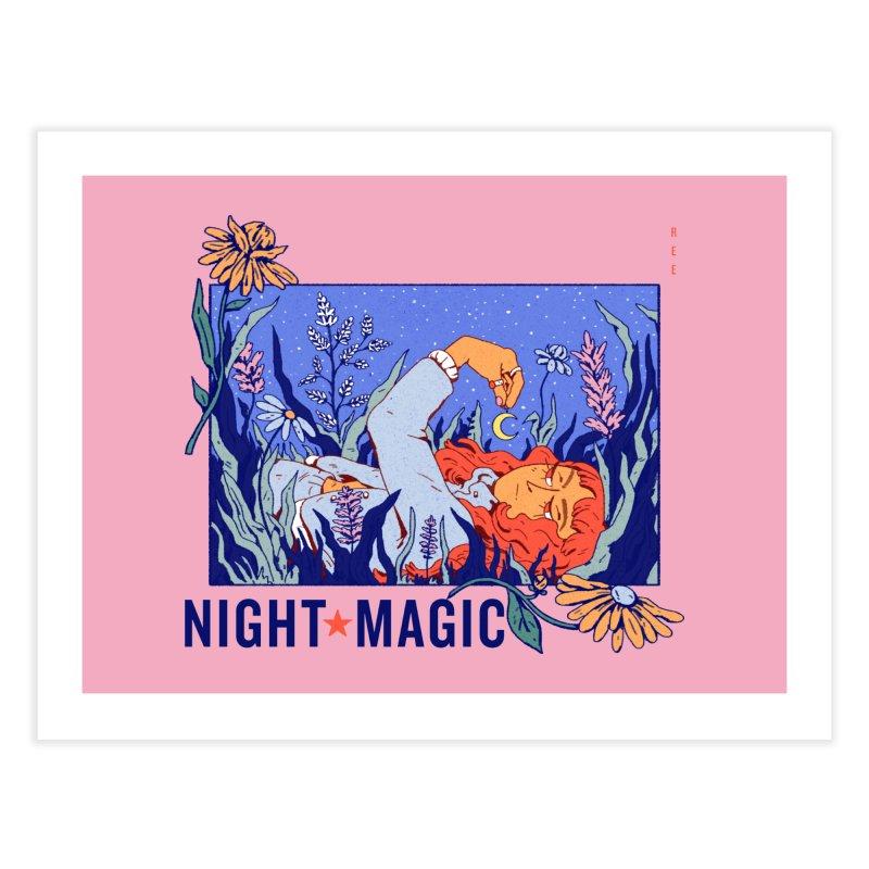 Night Magic Home Fine Art Print by Ree Artwork
