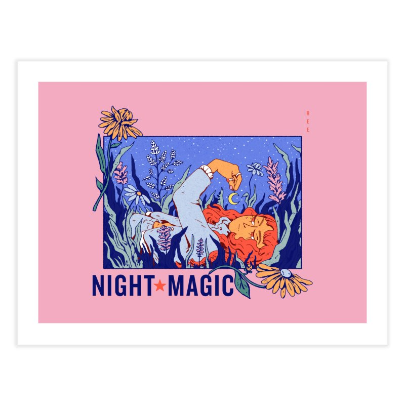 Night Magic Home Fine Art Print by Ree Artwork