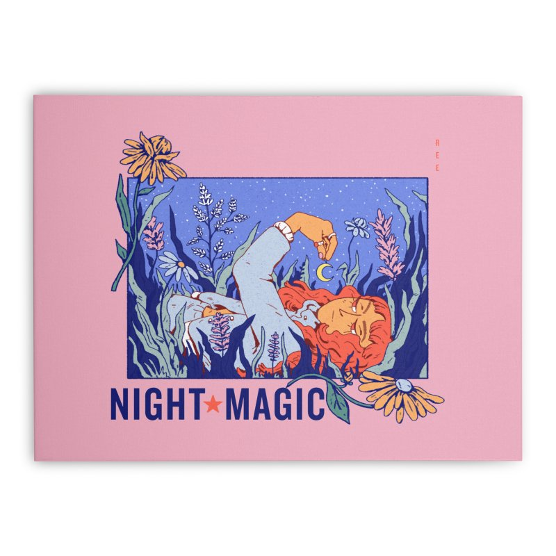 Night Magic Home Stretched Canvas by Ree Artwork