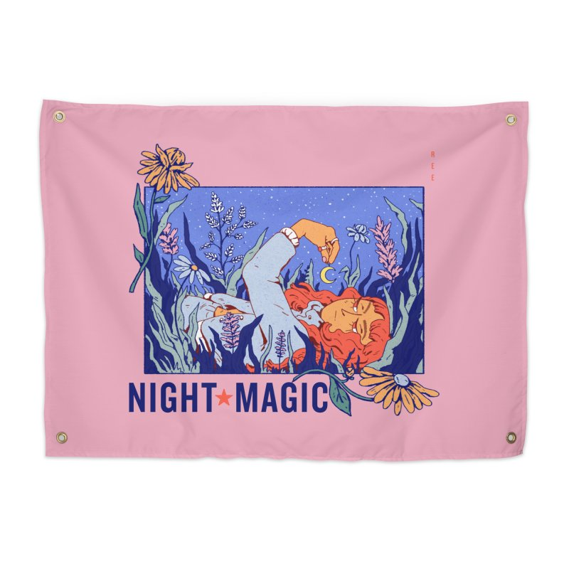 Night Magic Home Tapestry by Ree Artwork