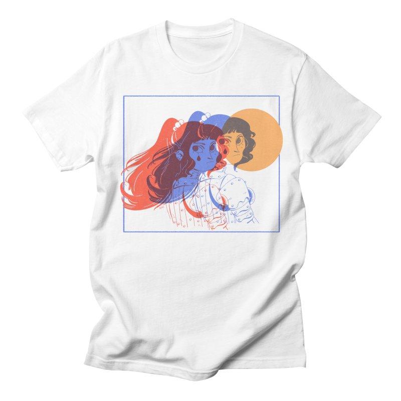 Tear ~ in Women's Regular Unisex T-Shirt White by Ree Artwork