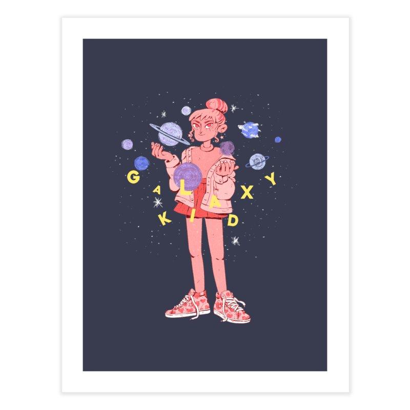 Galaxy Kid Home Fine Art Print by Ree Artwork