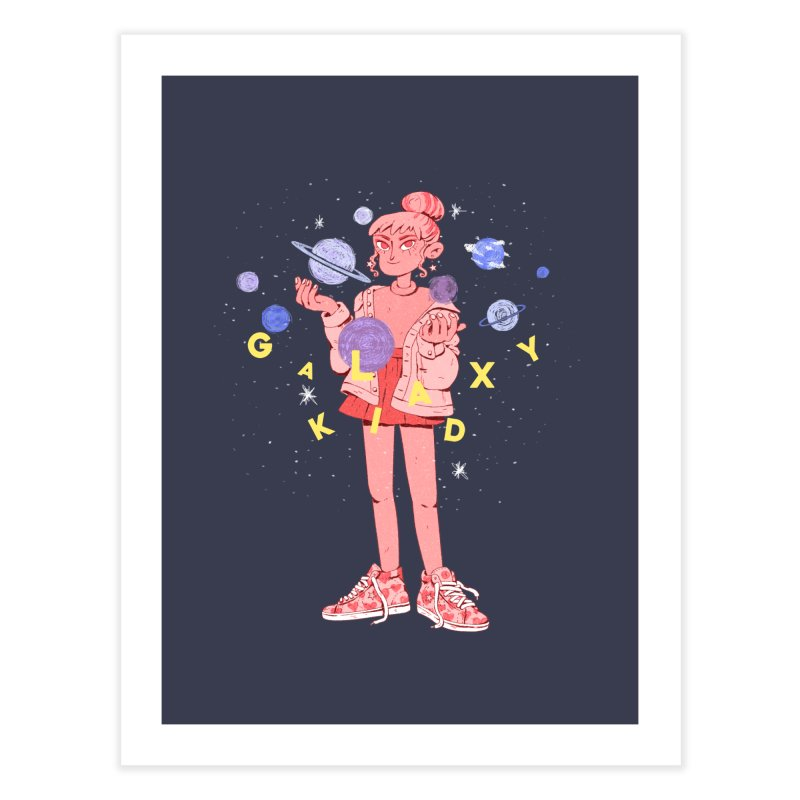 Galaxy Kid Home Fine Art Print by Ree Artwork