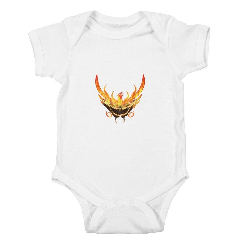 Phoenix butterfly Kids Baby Bodysuit by ReiLuzardo's Artist Shop