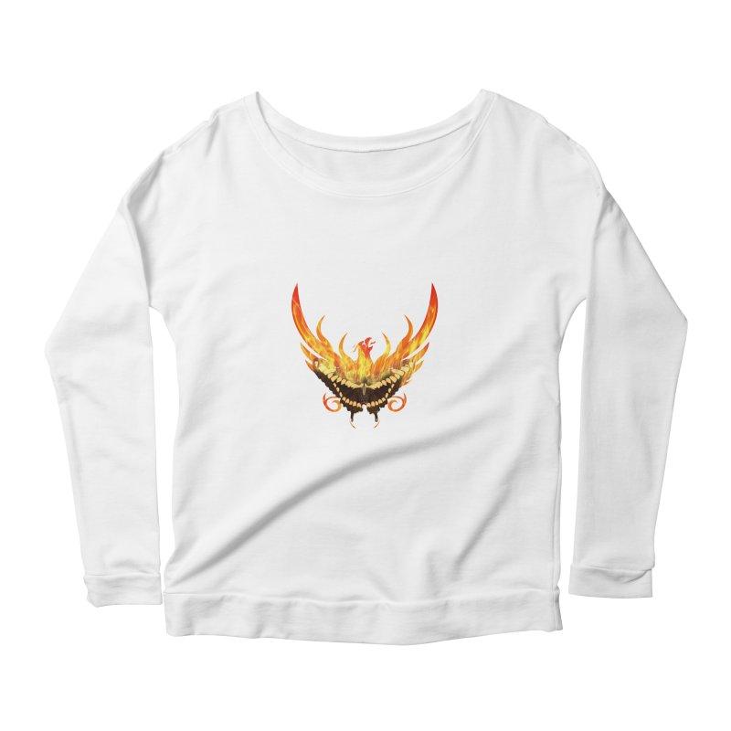 Phoenix butterfly Women's Scoop Neck Longsleeve T-Shirt by ReiLuzardo's Artist Shop
