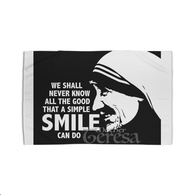 Mother Teresa, smile Home Rug by ReiLuzardo's Artist Shop