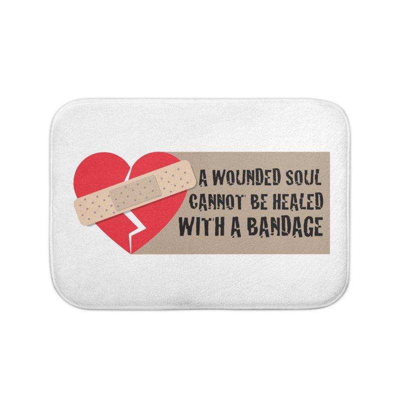 Bandages and broken hearts Home Bath Mat by ReiLuzardo's Artist Shop
