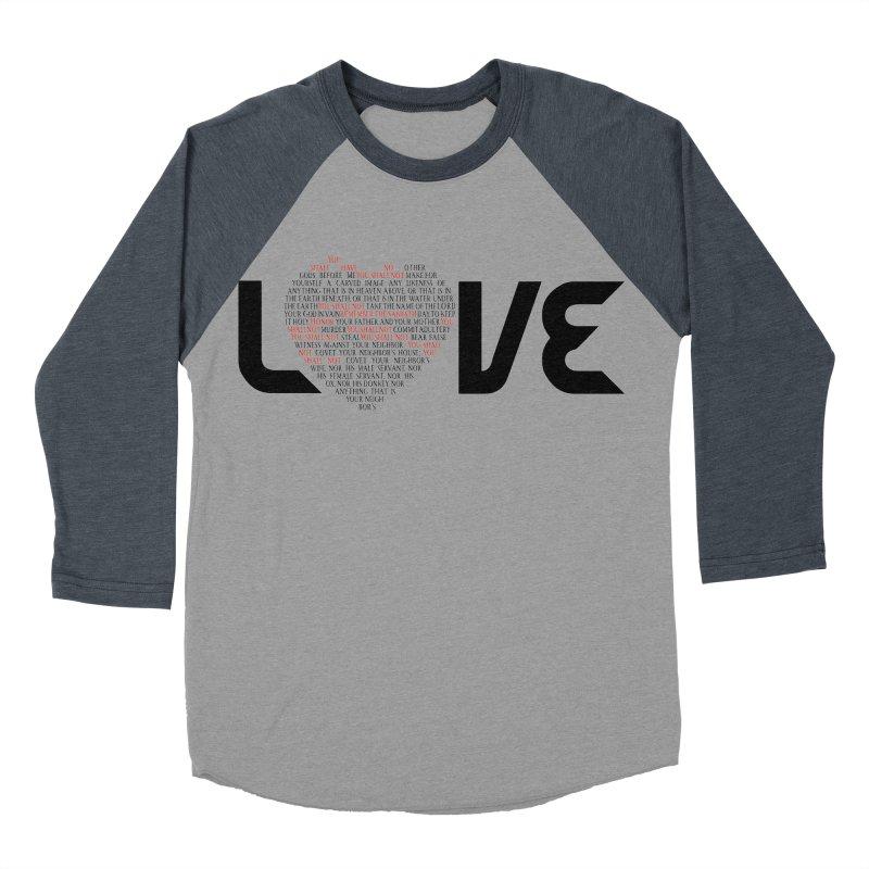 10 Commandments Men's Baseball Triblend Longsleeve T-Shirt by ReiLuzardo's Artist Shop