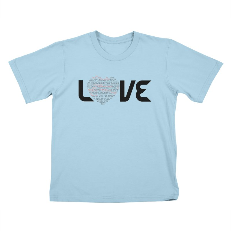 10 Commandments Kids T-Shirt by ReiLuzardo's Artist Shop