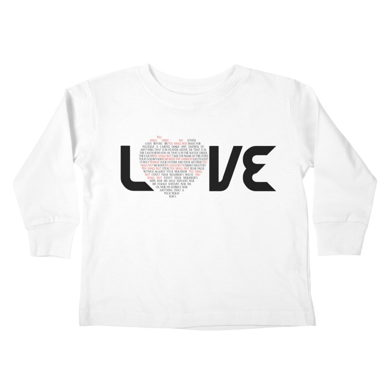 10 Commandments Kids Toddler Longsleeve T-Shirt by ReiLuzardo's Artist Shop