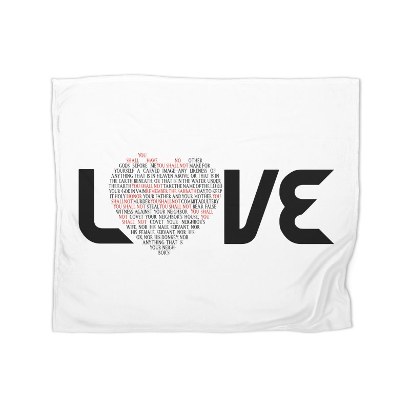 10 Commandments Home Fleece Blanket Blanket by ReiLuzardo's Artist Shop
