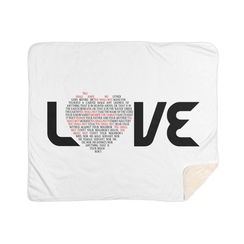 10 Commandments Home Sherpa Blanket Blanket by ReiLuzardo's Artist Shop