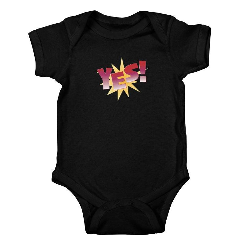 yes! Kids Baby Bodysuit by ReiLuzardo's Artist Shop