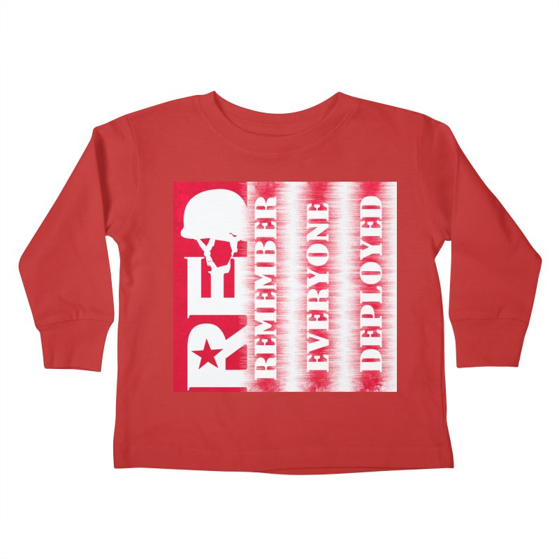 RED Friday Kids Toddler Longsleeve T-Shirt by ReiLuzardo's Artist Shop