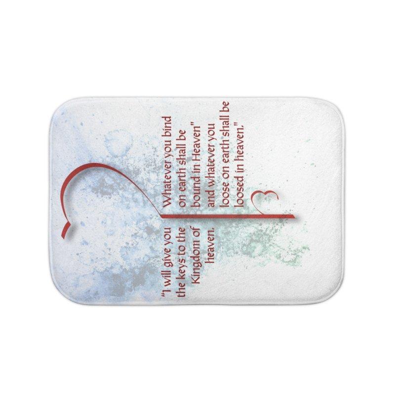Keys to the kingdom Home Bath Mat by ReiLuzardo's Artist Shop