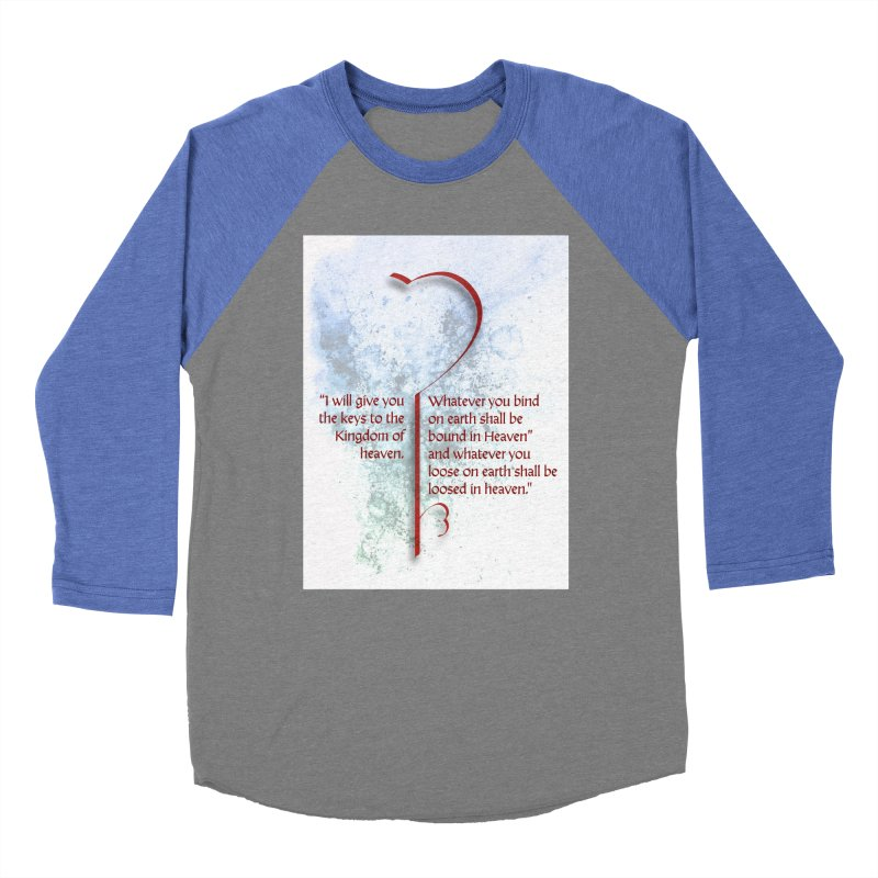 Keys to the kingdom Men's Baseball Triblend Longsleeve T-Shirt by ReiLuzardo's Artist Shop