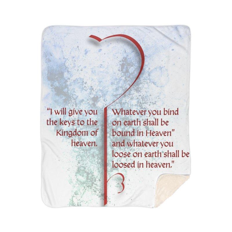 Keys to the kingdom Home Sherpa Blanket Blanket by ReiLuzardo's Artist Shop