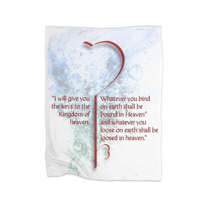 Keys to the kingdom Home Fleece Blanket Blanket by ReiLuzardo's Artist Shop