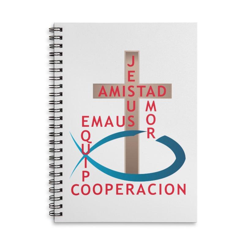 Emaus retiro Accessories Lined Spiral Notebook by ReiLuzardo's Artist Shop