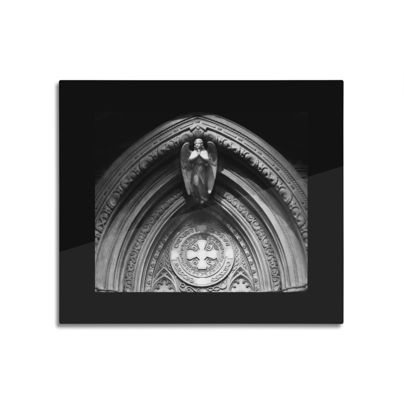 Angel at the door Home Mounted Aluminum Print by ReiLuzardo's Artist Shop