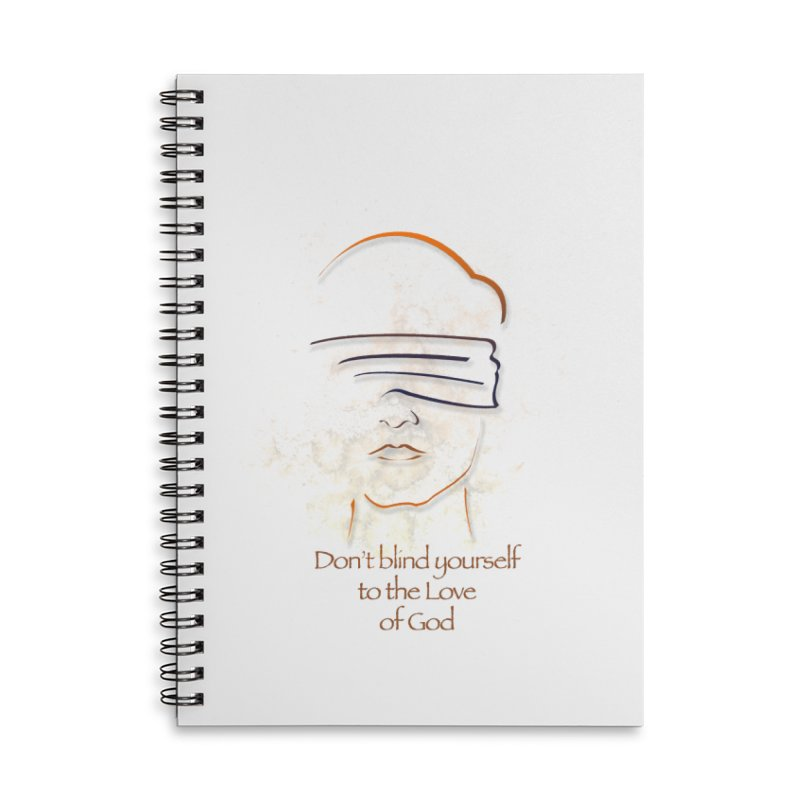 Don't blindfold yourself Accessories Lined Spiral Notebook by ReiLuzardo's Artist Shop