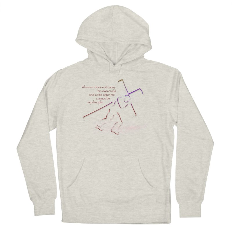 Carry your own cross Men's French Terry Pullover Hoody by ReiLuzardo's Artist Shop