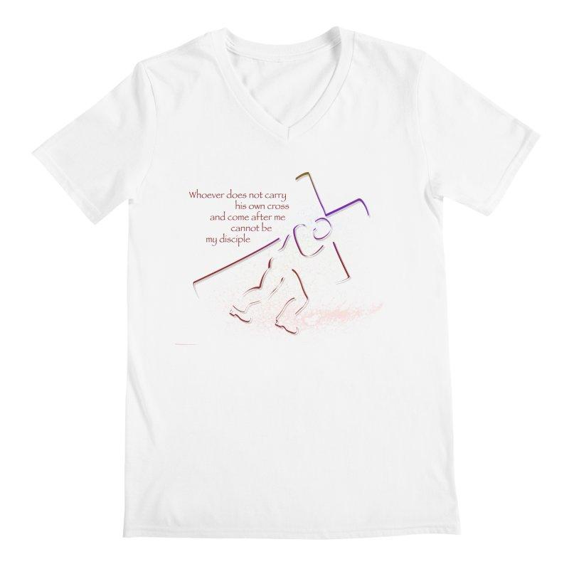 Carry your own cross Men's Regular V-Neck by ReiLuzardo's Artist Shop