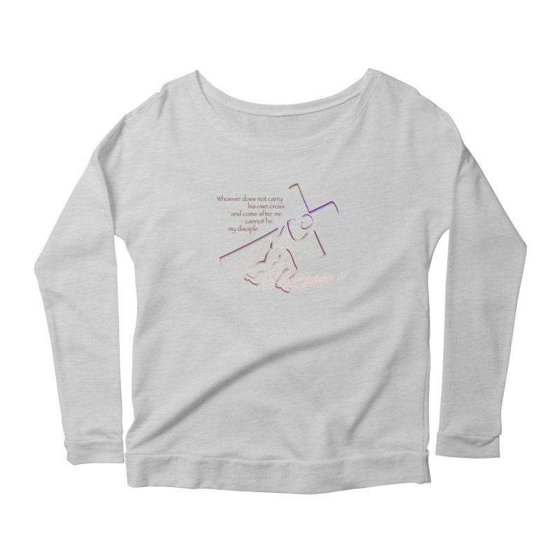 Carry your own cross Women's Scoop Neck Longsleeve T-Shirt by ReiLuzardo's Artist Shop