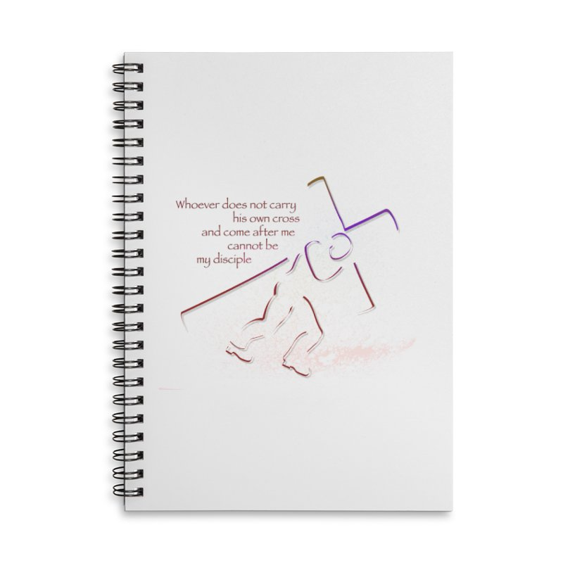 Carry your own cross Accessories Lined Spiral Notebook by ReiLuzardo's Artist Shop