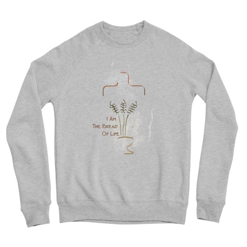Jesus the bread of life Men's Sponge Fleece Sweatshirt by ReiLuzardo's Artist Shop