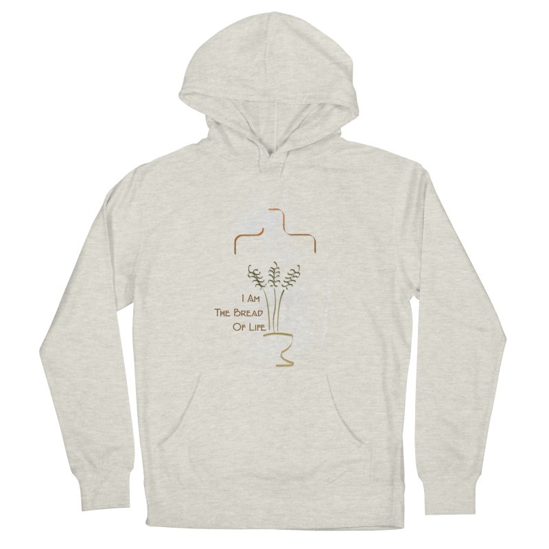 Jesus the bread of life Men's French Terry Pullover Hoody by ReiLuzardo's Artist Shop