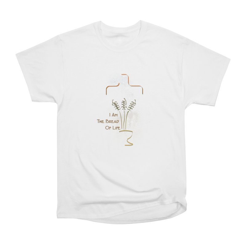 Jesus the bread of life Women's Heavyweight Unisex T-Shirt by ReiLuzardo's Artist Shop