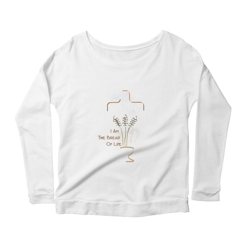 Jesus the bread of life Women's Scoop Neck Longsleeve T-Shirt by ReiLuzardo's Artist Shop