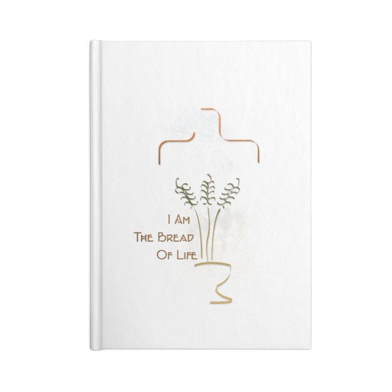 Jesus the bread of life Accessories Blank Journal Notebook by ReiLuzardo's Artist Shop