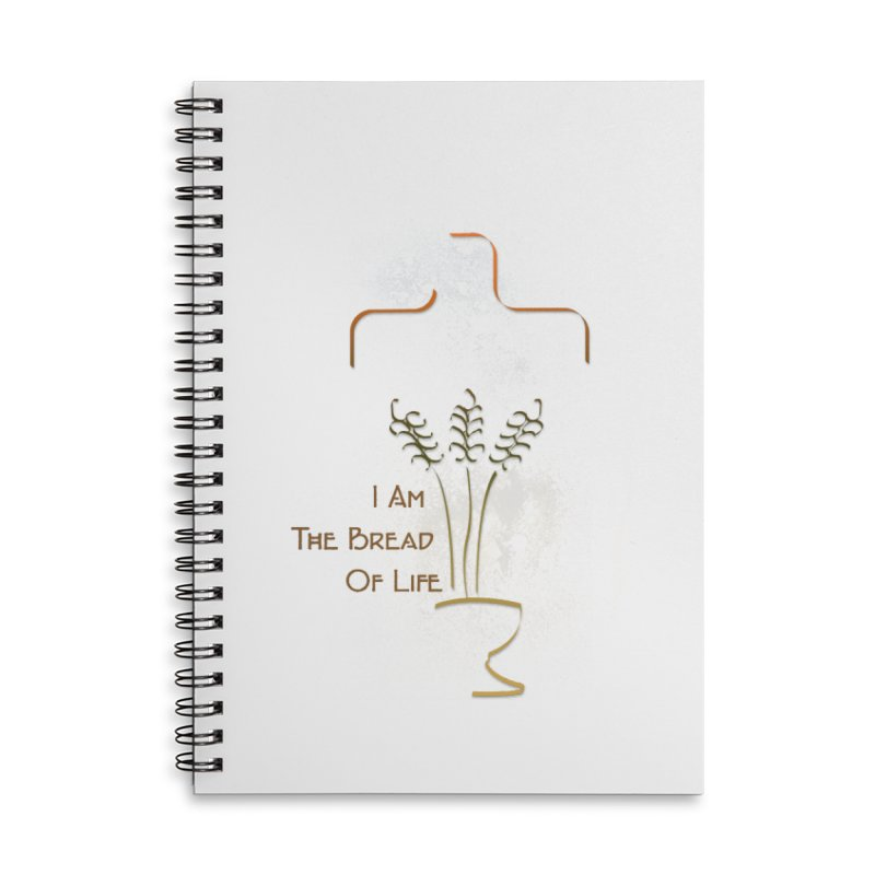 Jesus the bread of life Accessories Lined Spiral Notebook by ReiLuzardo's Artist Shop