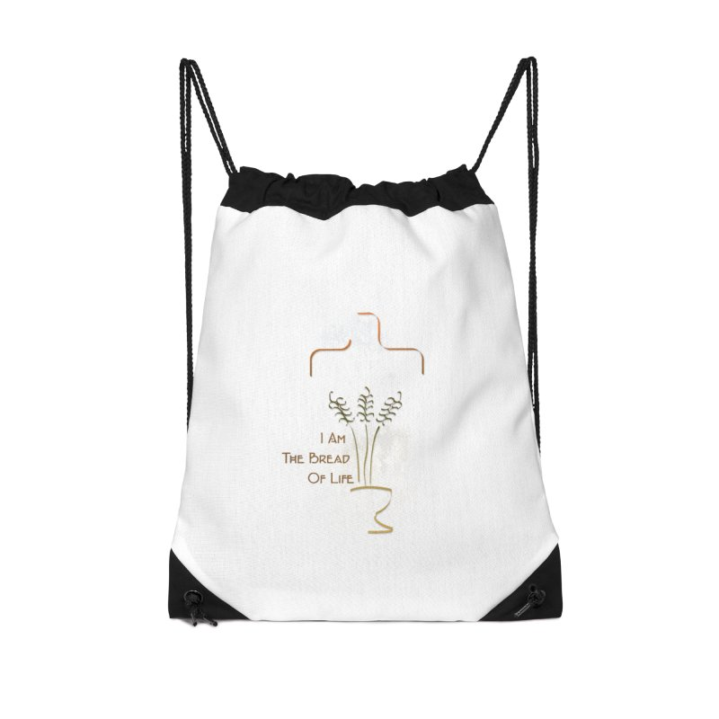 Jesus the bread of life Accessories Drawstring Bag Bag by ReiLuzardo's Artist Shop