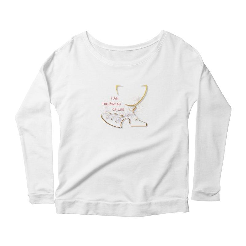 I am the bread of life Women's Scoop Neck Longsleeve T-Shirt by ReiLuzardo's Artist Shop