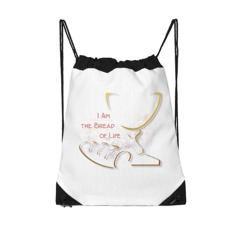 I am the bread of life Accessories Drawstring Bag Bag by ReiLuzardo's Artist Shop